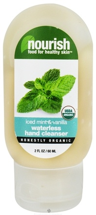 DROPPED: Nourish - Waterless Hand Cleanser Iced Mint & Vanilla - 2 oz.