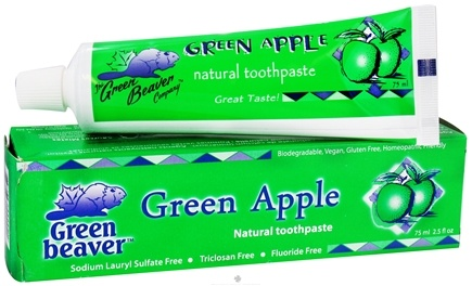 DROPPED: Green Beaver - Toothpaste Green Apple - 2.5 oz. CLEARANCE PRICED