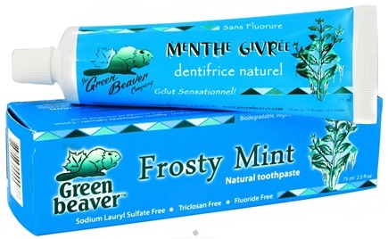 DROPPED: Green Beaver - Toothpaste Frosty Mint - 2.5 oz. CLEARANCE PRICED