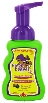 DROPPED: Green Beaver - Junior Foaming Body Wash Boreal Berries - 7.6 oz. CLEARANCE PRICED