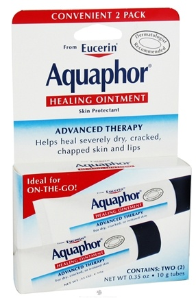 DROPPED: Eucerin - Aquaphor Advanced Therapy Healing Ointment Fragrance-Free .35 oz. Tubes - 2 Pack CLEARANCE PRICED