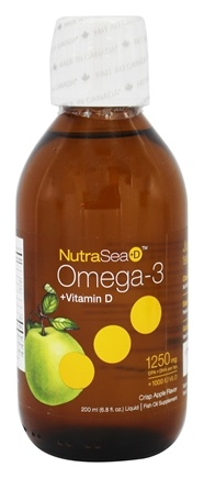 Ascenta Health - NutraSea +D Liquid Omega 3 With Vitamin D Crisp Apple Flavor - 6.8 oz.