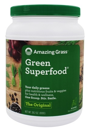 Amazing Grass - Green SuperFood Powder Value Size 100 Servings Original - 28 oz.