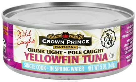 DROPPED: Crown Prince Natural - Chunk Light Yellowfin Tuna - 5 oz. CLEARANCE PRICED