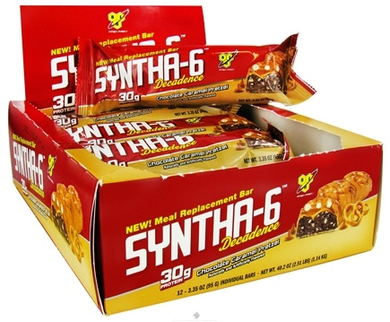 DROPPED: BSN - Syntha-6 Decadence Meal Replacement Protein Bar Chocolate Caramel Pretzel - 3.35 oz. CLEARANCE PRICED