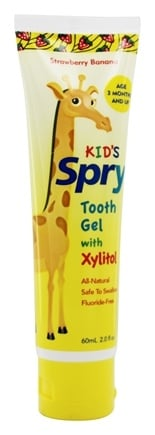 Xlear - Spry Kid's Tooth Gel With Xylitol Strawberry Banana - 2 oz.