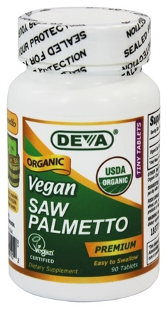 Deva Nutrition - Vegan Organic Saw Palmetto 300 mg. - 90 Vegetarian Tablets