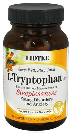 DROPPED: Lidtke Technologies - L-Tryptophan 500 mg. - 60 Capsules