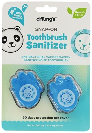Dr. Tung's - Snap-On Toothbrush Sanitizer - 2 Pack