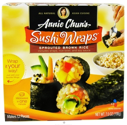 DROPPED: Annie Chun's - Sushi Wraps Sprouted Brown Rice - 7 oz.