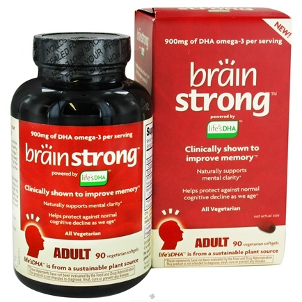 DROPPED: Amerifit Brands - BrainStrong Adult DHA - 90 Vegetarian Softgels