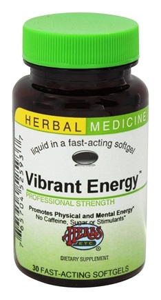 DROPPED: Herbs Etc - Vibrant Energy Professional Strength Alcohol Free - 30 Softgels