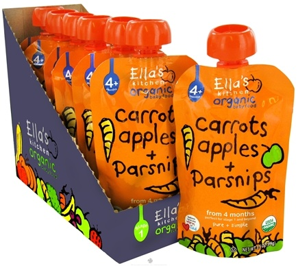 DROPPED: Ella's Kitchen - Organic Baby Food Stage 1 For 4 Months & Older Carrots, Apples And Parsnips - 3.5 oz. CLEARANCE PRICED