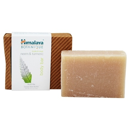 Botanique by Himalaya - Handcrafted Cleansing Bar Soap Purifying Neem & Turmeric - 4.41 oz. Formerly Organique by Himalaya