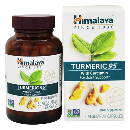 Himalaya Herbal Healthcare - Turmeric 95 with Curcumin for Joint Support - 60 Vegetarian Capsules