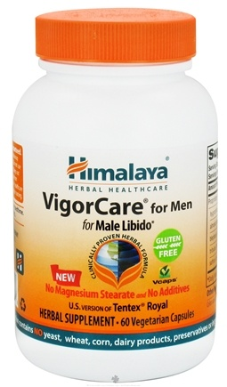 DROPPED: Himalaya Herbal Healthcare - VigorCare Tentex Royal for Men for Male Libido - 60 Vegetarian Capsules CLEARANCE PRICED