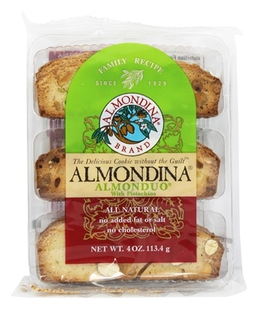 Almondina - Almonduo With Pistachios - 4 oz.