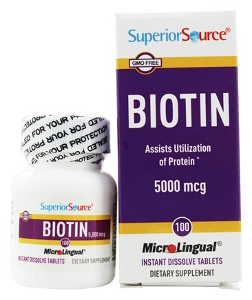 Superior Source - Biotin Instant Dissolve 5000 mcg. - 100 Tablets