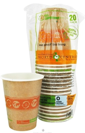 DROPPED: World Centric - Compostable Paper Cups 12 oz. - 20 Count