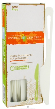 DROPPED: World Centric - Corn Starch Knives - 24 Count CLEARANCE PRICED
