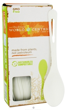 DROPPED: World Centric - Corn Starch Spoons - 24 Count