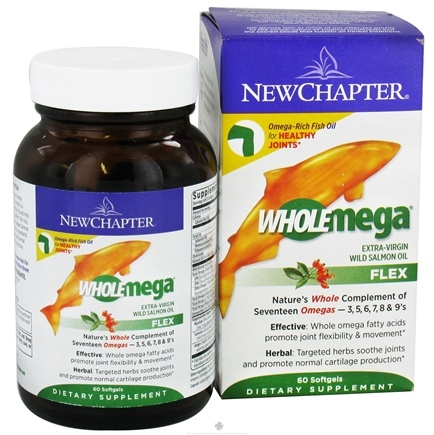 Zoom View - Wholemega Flex Extra-Virgin Wild Salmon Oil