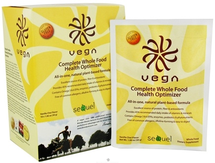 DROPPED: Vega - Complete Whole Food Health Optimizer Snack Pack Vanilla Chai - 10 Packet(s)
