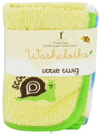 DROPPED: Little Twig - Washcloths 100% Super Soft Cotton - 3 Pack(s)