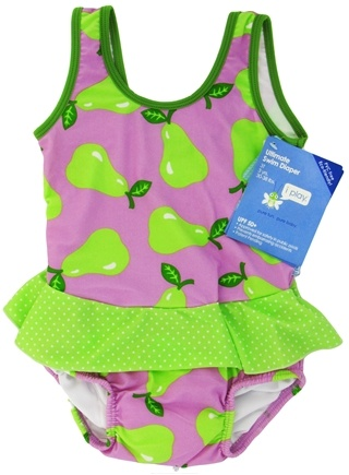 DROPPED: Green Sprouts - Skirt Tanksuit with Ultimate Swim Diaper 3T 3 yrs. 30-38 lbs. Lavender Pear - CLEARANCE PRICED