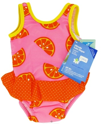 Zoom View - Skirt Tanksuit with Ultimate Swim Diaper Medium 12 Months 18-22 lbs.