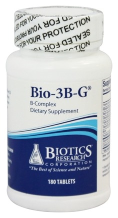 Biotics Research - Bio-3B-G Special B-Complex - 180 Tablets