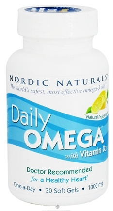 DROPPED: Nordic Naturals - Daily Omega With Vitamin D3 Natural Fruit Flavor - 30 Softgels CLEARANCE PRICED