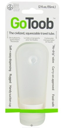 DROPPED: Humangear - GoToob Squeezable Travel Tube Clear - 2 oz. CLEARANCE PRICED