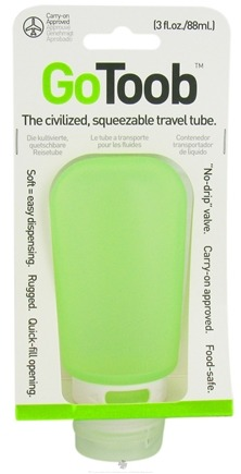 DROPPED: Humangear - GoToob Squeezable Travel Tube Lime Green - 3 oz. CLEARANCE PRICED