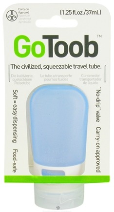 DROPPED: Humangear - GoToob Squeezable Travel Tube Sky Blue - 1.25 oz. CLEARANCE PRICED