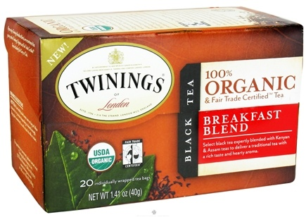 DROPPED: Twinings of London - Organic Breakfast Blend Tea - 20 Tea Bags