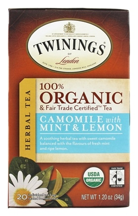 DROPPED: Twinings of London - Organic Camomile with Mint and Lemon Tea - 20 Tea Bags