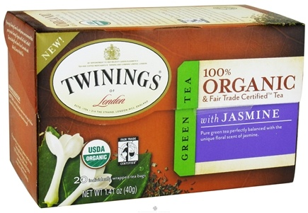 DROPPED: Twinings of London - Organic Green Tea with Jasmine - 20 Tea Bags CLEARANCE PRICED