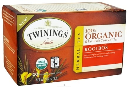 DROPPED: Twinings of London - Organic Rooibos Tea - 20 Tea Bags