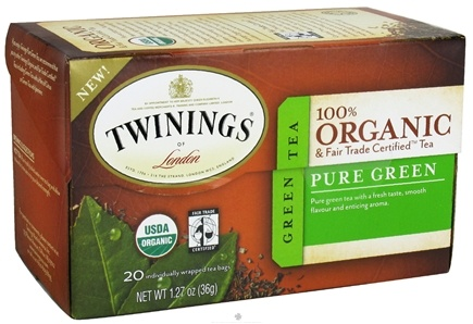 DROPPED: Twinings of London - Organic Pure Green Tea - 20 Tea Bags CLEARANCE PRICED