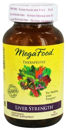 DROPPED: MegaFood - Therapeutix Liver Strength For Healthy Liver Function - 90 Vegetarian Tablets CLEARANCE PRICED
