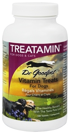 DROPPED: Dr. Goodpet - Treatamin Vitamin Treats For Dogs & Cats - 180 Tablets