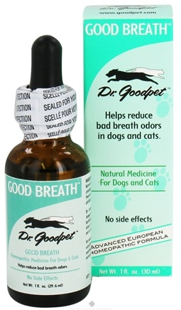 DROPPED: Dr. Goodpet - Good Breath Homeopathic Formula For Dogs & Cats - 1 oz. CLEARANCE PRICED