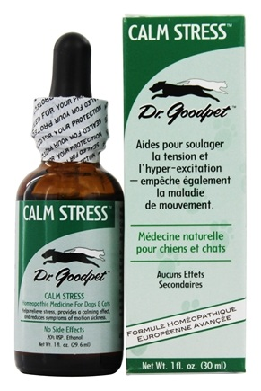 Dr. Goodpet - Calm Stress Homeopathic Formula For Dogs & Cats - 1 oz.