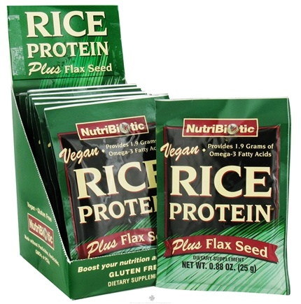 DROPPED: Nutribiotic - Vegan Rice Protein Plus Flax Seed - 12 Packet(s)