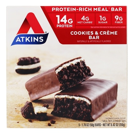 Atkins Nutritionals Inc. - Advantage Meal Bar Cookies N' Creme - 5 Bars