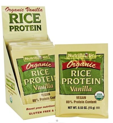 DROPPED: Nutribiotic - Organic Rice Protein Vanilla - 12 Packet(s) CLEARANCE PRICED