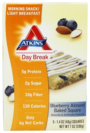 DROPPED: Atkins Nutritionals Inc. - Day Break Baked Square Blueberry Almond - 5 Bars