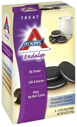 DROPPED: Atkins Nutritionals Inc. - Endulge Sandwich Cookies Chocolate Creme - 5 Pack