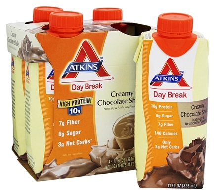 DROPPED: Atkins Nutritionals Inc. - Day Break Creamy Chocolate Shake - 4 Pack